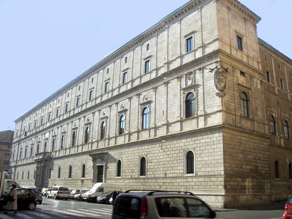 Parione_-_palazzo_Riario_o_Cancelleria_nuova_1628