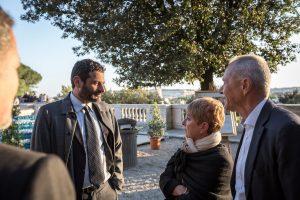 Gianluca De Marchi insieme ai coniugi Fagnola, mecenati di Genova grazie ad Art Bonus